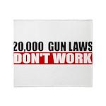 20,000 Gun Laws Throw Blanket