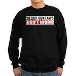 20,000 Gun Laws Sweatshirt (dark)