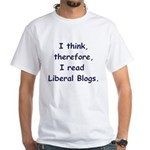 Liberal Blogs White T-Shirt