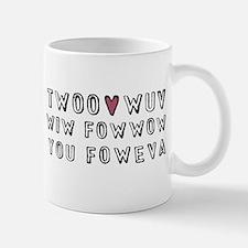 Princess Bride Twoo Wuv Foweva Mug