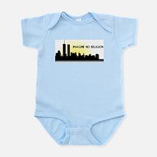 Imagine No Religion Twin Towers Infant Bodysuit