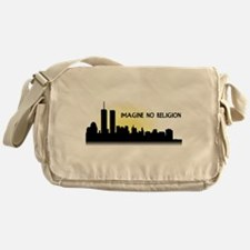 Imagine No Religion Twin Towers Messenger Bag