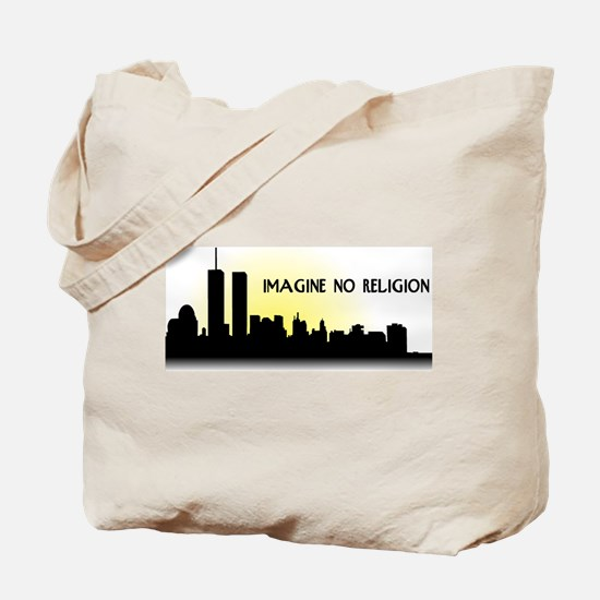 Imagine No Religion Twin Towers Tote Bag