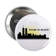 "Imagine No Religion Twin Towers 2.25"" Button"