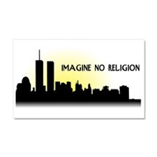 Imagine No Religion Twin Towers Car Magnet 20 x 12