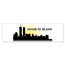 Imagine No Religion Twin Towers Bumper Sticker