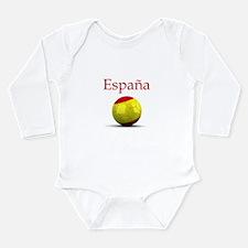 Funny Spanish soccer Long Sleeve Infant Bodysuit