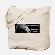 All-knowing Horse Tote Bag