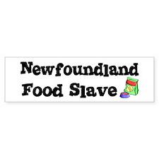 Newfoundland FOOD SLAVE Bumper Bumper Sticker