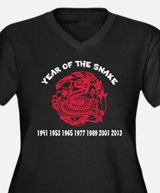 Chinese Paper Cut Year Of Snake Women's Plus Size