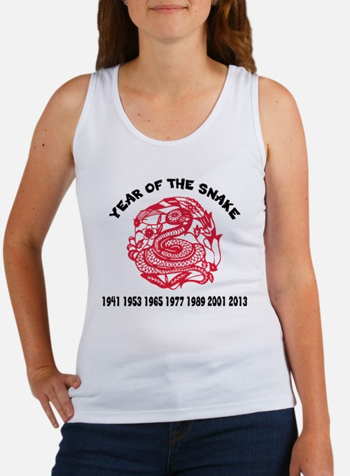 Chinese Paper Cut Year Of Snake Women's Tank Top
