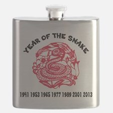 Chinese Paper Cut Year Of Snake Flask