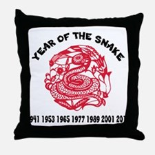 Chinese Paper Cut Year Of Snake Throw Pillow