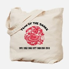 Chinese Paper Cut Year Of Snake Tote Bag