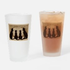 Halloween Black Cats Drinking Glass