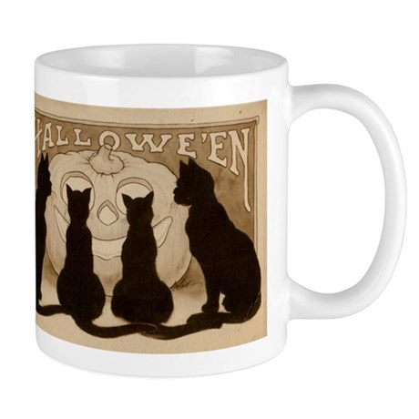 Halloween Black Cats Mug