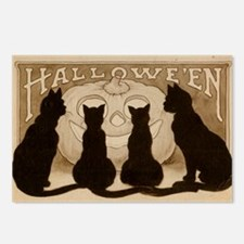Halloween Black Cats Postcards (Package of 8)
