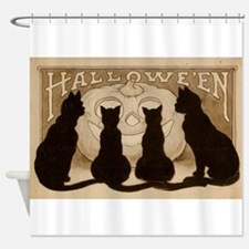 Halloween Black Cats Shower Curtain