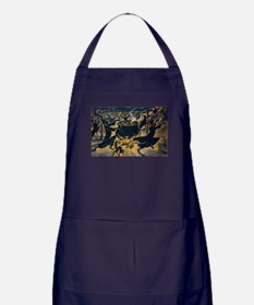 Vintage Halloween Witches Apron (dark)