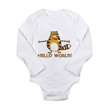 Hello world Long Sleeve Infant Bodysuit