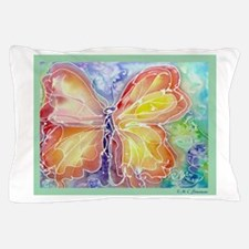 Butterfly, colorful art! Pillow Case