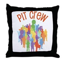 Pit Crew Band Collage Throw Pillow