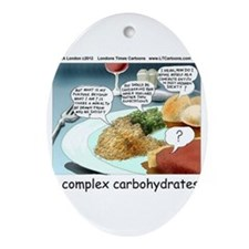 Way Too Complex Carbohydrates Ornament (Oval)
