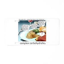 Way Too Complex Carbohydrates Aluminum License Pla