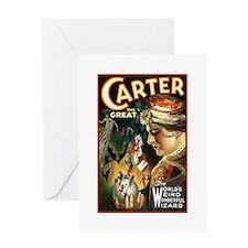Vintage Magician Carter Greeting Card