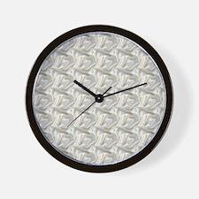 White Satin Cloth Wall Clock