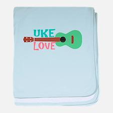 Uke Love baby blanket
