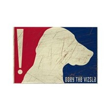 Obey the Vizsla! USA Tricolor Retro Magnet