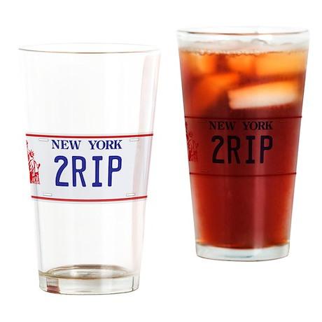 2RIP T Shirt Drinking Glass