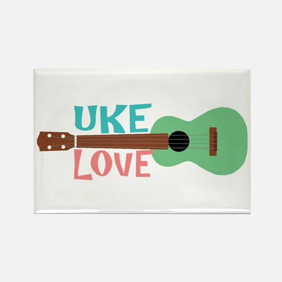 Uke Love Rectangle Magnet
