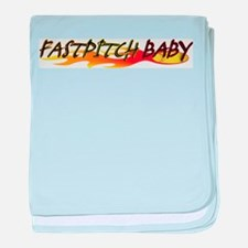 Fastpitch Baby baby blanket