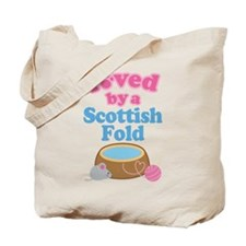 Loved By A Scottish Fold Tote Bag