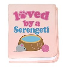 Loved By A Serengeti baby blanket
