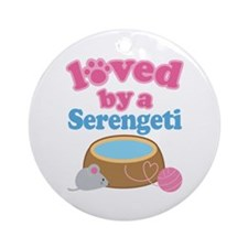 Loved By A Serengeti Ornament (Round)