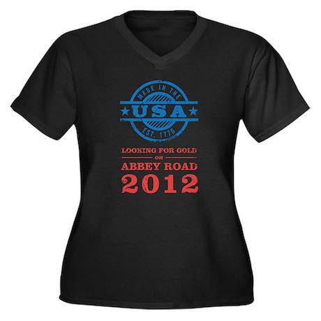 Team USA 2012 Abbey Road Women's Plus Size V-Neck