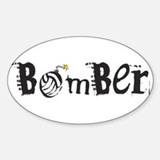 Bomber Oval Decal