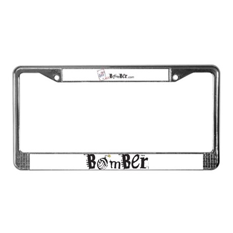 Bomber License Plate Frame