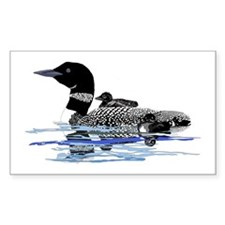 loon with babies Decal