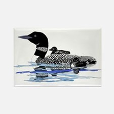loon with babies Rectangle Magnet