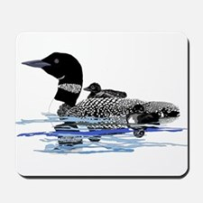 loon with babies Mousepad