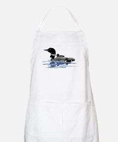 loon with babies Apron