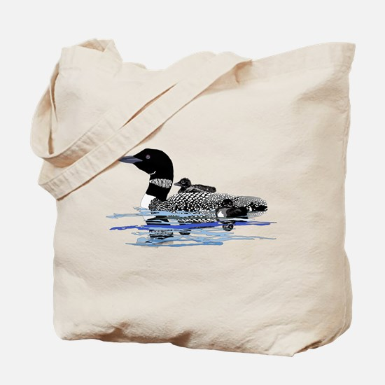 loon with babies Tote Bag