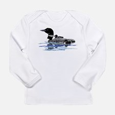 loon with babies Long Sleeve Infant T-Shirt