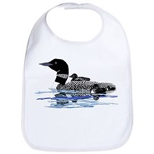 loon with babies Bib