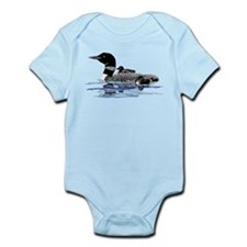 loon with babies Infant Bodysuit