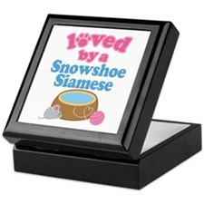 Loved By A Snowshoe Siamese Keepsake Box